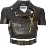 Moschino Cropped Biker Jacket