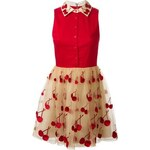 Alice+Olivia Cherry Embroidered Combo Dress