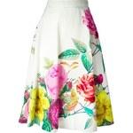 P.A.R.O.S.H. High Waisted Flower Print Skirt