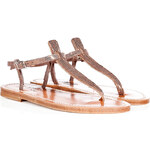 K.Jacques Metallic Leather Sandals