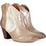 Ash Metallic Leather Millenium Ankle Boots