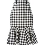 Dolce & Gabbana Check Ruffle Skirt