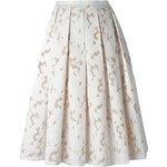Michael Kors Floral Lace Pleated Skirt