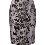 Martha Medeiros Butterfly Jacquard Skirt