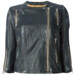 Sword Distressed Biker Jacket