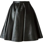 Amen Faux Leather A-Line Skirt