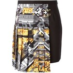 Versus Pleated Asymmetric Print Skirt