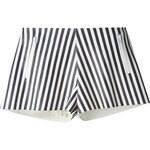 Drome Perforated Striped Shorts