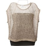 Brunello Cucinelli Open Knit Layered Top