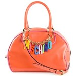 Moschino Logo Chain Bowling Bag