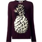 Msgm Pineapple Intarsia Knit Sweater