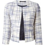 Tagliatore Cropped Tweed Jacket