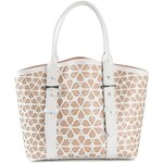 Alexander Mcqueen 'Legend' Embossed Cut Out Flower Tote