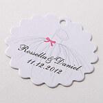 LightInTheBox Personalized Scalloped Favor Tag – Wedding Dress (Set of 60)