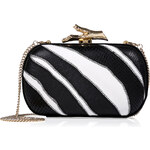 Diane von Furstenberg Zebra Print Leather Box Clutch