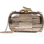 Diane von Furstenberg Metallic Leather Box Clutch