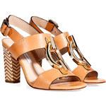 Diane von Furstenberg Leather Sandals with Embellished Front