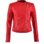 Hailys Koženková dámská bunda červená