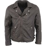 Černá kožená bunda Jack & Jones Vintage Town