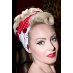 Be Bop a Hairbands 50s I Want Cherries And Polkadots In My Hair Scarf in White