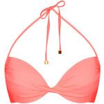 Topshop Sunset Pink Basic Bikini Top