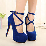 LightInTheBox Fly Lady Blue Ballerina Platform High Heel Shoes