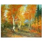 Obraz - Podzim v březovém háji