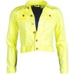 Dámská džínová bunda Sublevel - Neon yellow