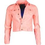 Dámská džínová bunda Sublevel - Neon peach