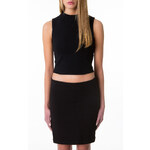 Tally Weijl Black High Neck Crop Top