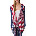 "Tally Weijl ""USA Flag"" Print Waterfall Cardigan"