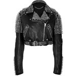 Burberry Brit Studded Leather Biker Jacket