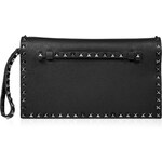 Valentino Leather Clutch with Rockstud Trim