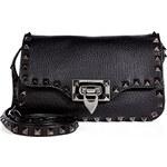 Valentino Leather Mini Shoulder Bag with Rockstud Trim