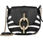Diane von Furstenberg Zebra Print Leather Saddle Bag