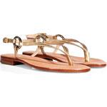 Diane von Furstenberg Metallic Leather Thong Sandals