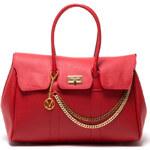 Mangotti Elegantní kožená business kabelka 1049 Rosso