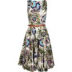 Galliano Dámské šaty, 4R64H373138_weiss mit Blumenprint S003
