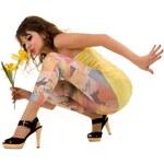 Funny Leg HTL Dámské legíny Lovely, s potiskem