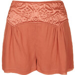 Topshop Embossed Panel Shorts