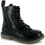 Golddigga Patent Boots Ladies Black 3