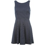Golddigga Lula Dress Ladies Navy Spot 18 (XXL)