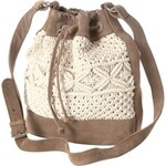 Promod Leather and macrame bag