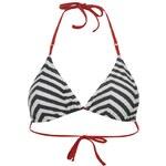 Miss Fiori Zag Stirpe Bikini Top dámské Wash Navy/Wht 6 (XXS)