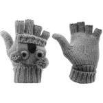 LA Gear Animal Gloves Grey Dětské