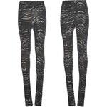 Golddigga All Over Print Leggings dámské Black/Gry-Zebra 6 (XXS)