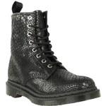 Dr Martens 1460 8 Eye Snake Wopánské Boots Black 4