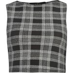 Triko Rock and Rags Grid Wopánské Crop Top Black/White XS