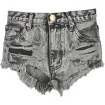 Glamorous Denim Shorts Grey Acid Wash S