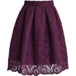 Chicwish krajková sukně Dream, fialová